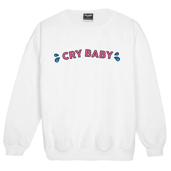 cry baby SWEATER JUMPER womens ladies fun tumblr hipster swag