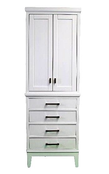 Good White Bathroom Linen Tower / Cabinet Bathroom Cabinet / Linen Tower In  White Finish. Constructed Of Solid Wood And Engineered WoodMulti Step Paint  /stain ...