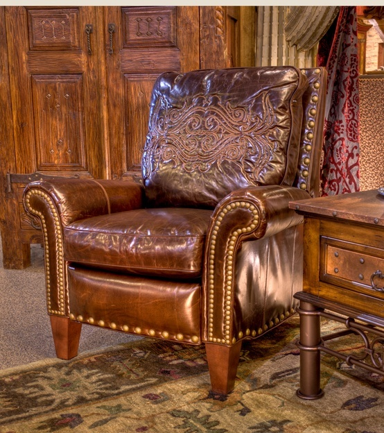 Briarwood Tooled Leather And Nailhead Chair
