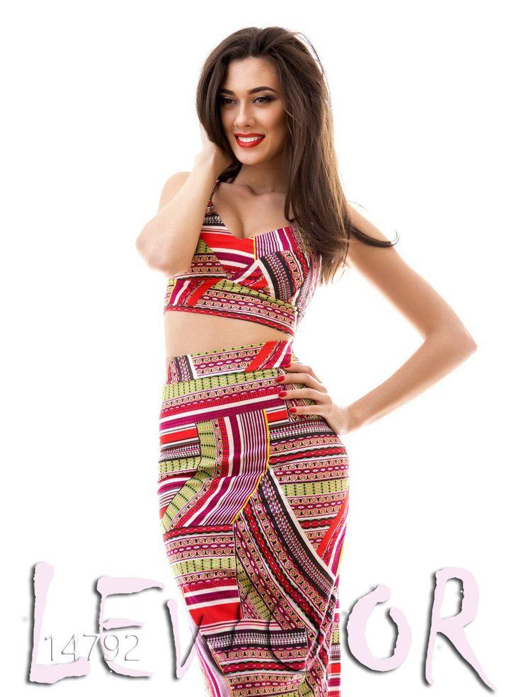 Чудный замшевый костюмчик (топ с юбкой) - купить оптом и в розницу, интернет-магазин женской одежды lewoor.com