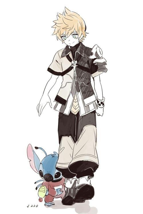 """Kingdom Hearts: Birth by Sleep"" meets ""Lilo & Stitch"" (Ventus & Stitch)"