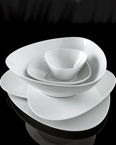 Dinnerware modern interesting shapes and arrangement : contemporary tableware - Pezcame.Com