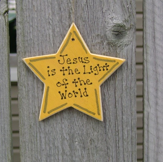 Jesus is the Light of the World Ornament by ifrogcrafts on Etsy, $5.00