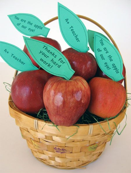 Great ideas for teacher appreciation week. I usually go with a theme for the week and have misc. food items for the teachers throughout the week. Fruit is a great idea to set out in the teacher's lounge or even in the front office. Click on the image to go to the link where you can download the printable leaves.: