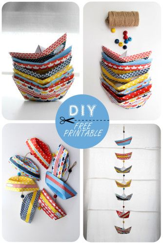 Paper boats, free printable