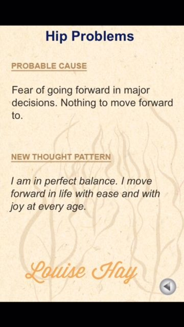 Hip Problems Louise Hay