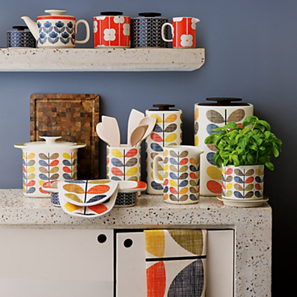 The Orla Kiely Multi Stem Kitchen Collection. [Can you tell we're excited?] Arriving soon at HonfleurHome.com!