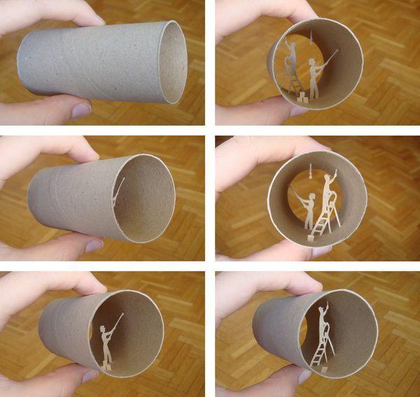 Креатив из туалетной бумаги