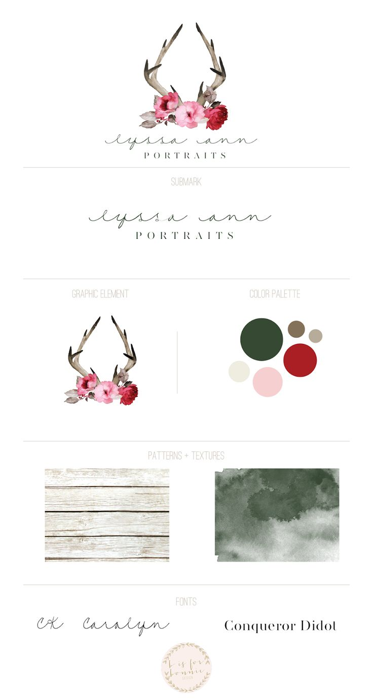 rustic + feminine rebranding for Lyssa Ann Portraits | b is for bonnie design