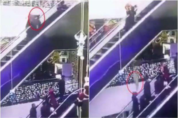 Jubah tersangkut punca ibu terlepaskan bayi sendiri jatuh eskalator sampai maut   Hanya kerana jubahnya tersangkut ketika menaiki eskalator seorang ibu muda berdepan situasi memilukan apabila bayi yang dikendongnya maut terjatuh pada ketinggian 12 meter.  Kejadian itu berlaku ketika ibu dan anak itu sedang menuruni eskalator di pusat membeli-belah Ozbegim di Uzbekistan.  Gambar daripada kamera keselamatan yang dimuatnaik ke laman sosial menunjukkan wanita itu sedang turun dari eskalator dari…