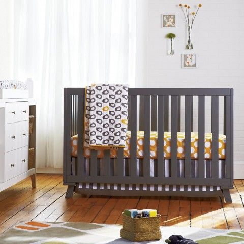 new low-rise modern crib from The Land of Nod- also comes in white