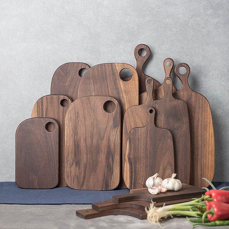 Black walnut chopping block bread board sushi plate pizza cutting board chopping board pallet all solid wood patchwork