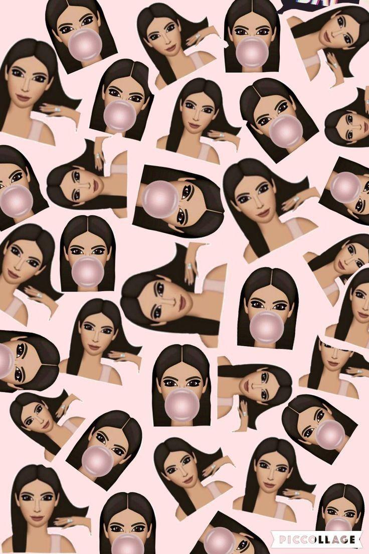Kim Kardashian Emoji Wallpaper Kim Kardashian Wallpaper Emoji Wallpaper Kardashian Emoji