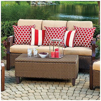 View Wilson U0026 Fisher® Tuscany Resin Wicker Cushioned Sofa Deals At Big Lots
