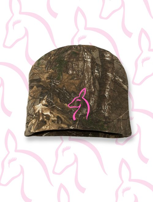 Just for Does Camo Knit Beanie