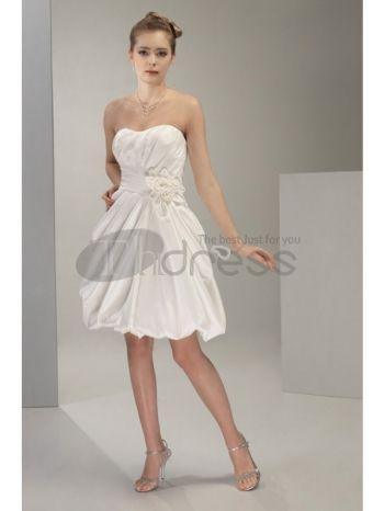 sweetheart informal length wedding gown