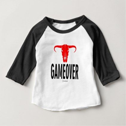 Game Over & Bull by VIMAGO Baby T-Shirt - Xmas ChristmasEve Christmas Eve Christmas merry xmas family kids gifts holidays Santa