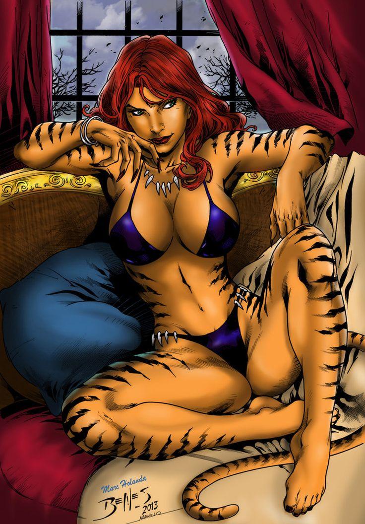 marvel tigra | Tigra color by MarcelloHolanda by MarcelloHolanda