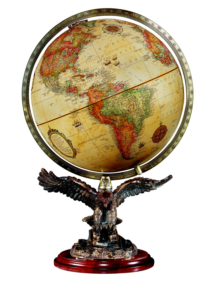 This one is a 12 antique ocean globe