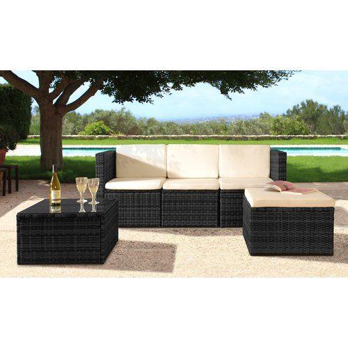 Sol 72 Outdoor Myah 4 Seater Rattan Corner Sofa Set With