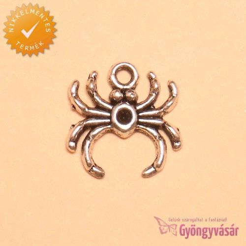 Ezüstszínű tengeri pók - nikkelmentes fém fityegő