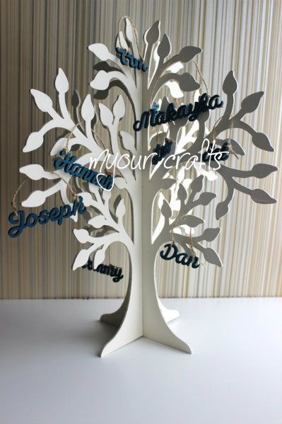 Large wooden freestanding 3D Family Wishing Tree.Can be used for Christening,wedding guest Book, Easter, Birthday,…