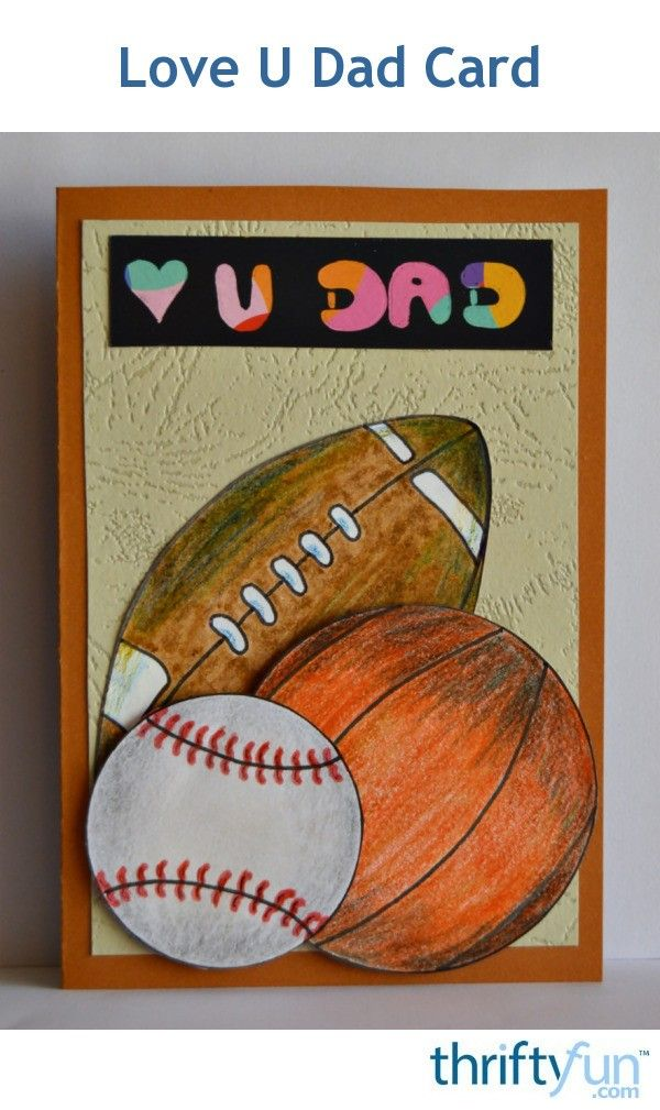 Is your dad a sports fan? Then this card is ideal to show him how much you love him on Father's Day!