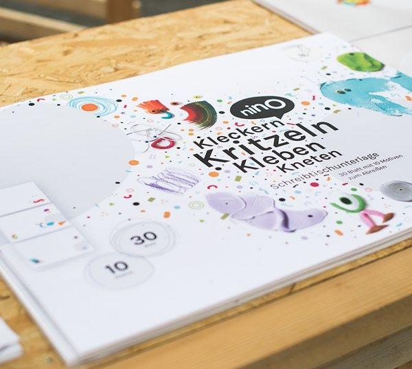 NINO Schreibtisch-Unterlage / desk pad / www.nino-kreativ.de