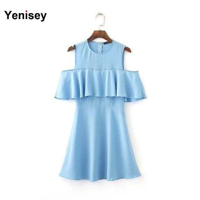 Nn38-1645 европейский стиль мода новый летний футболки сексуальные без бретелек волана платье 0505