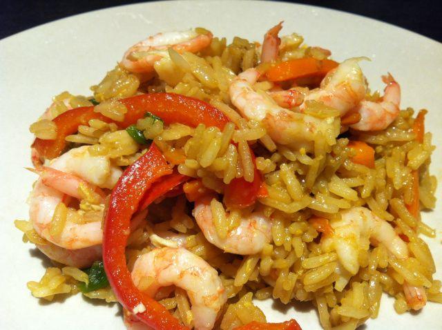 Restemat: Stekt ris med reker