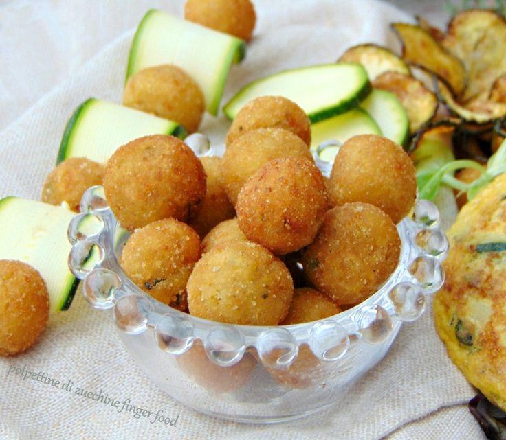Polpettine di zucchine finger food