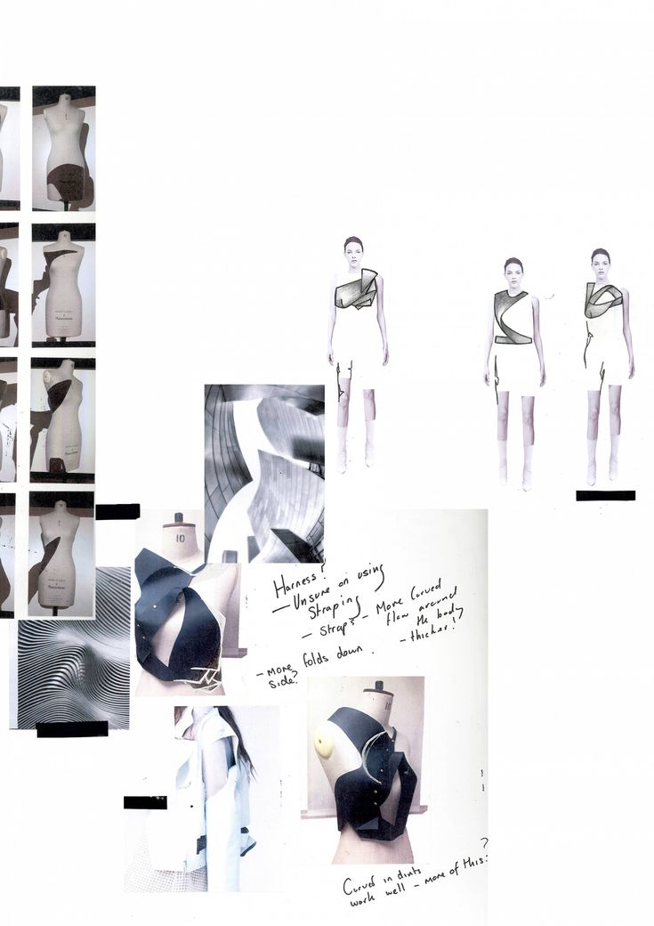 Fashion Sketchbook - fashion design sketches, draping & development; fashion portfolio // Alexandra McGough
