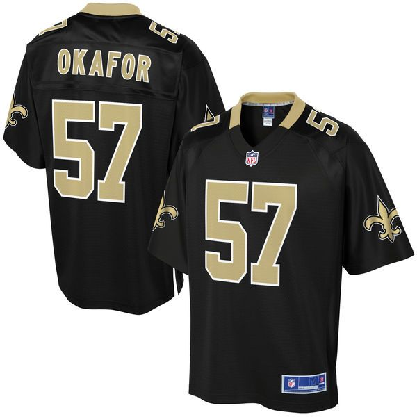 Alex Okafor New Orleans Saints NFL Pro Line Youth Player Jersey - Black - $74.99