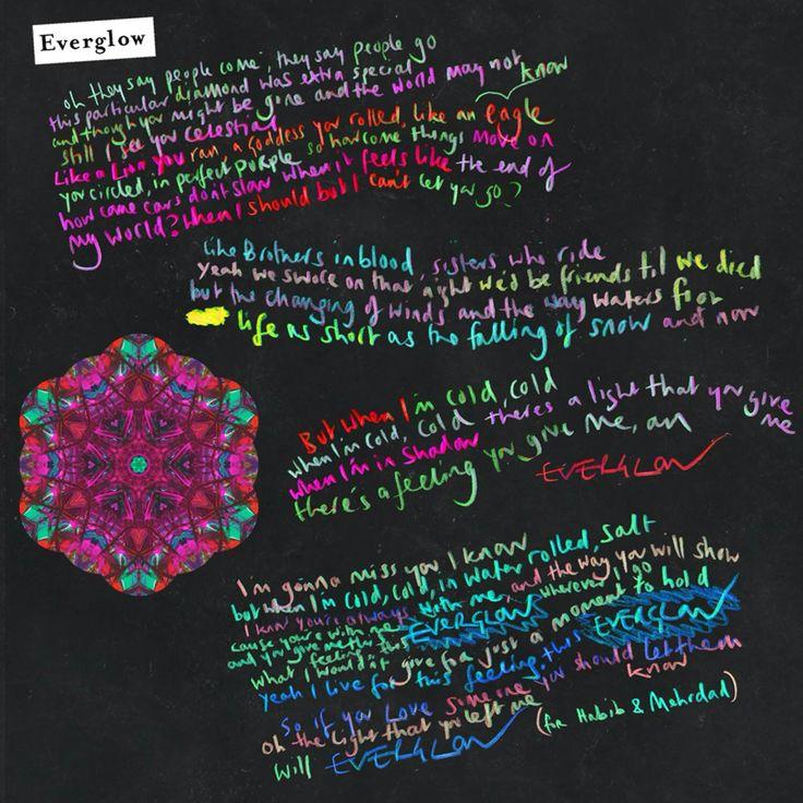 Everglow lyrics. For B, at Christmas. Coldplay, Coldplay