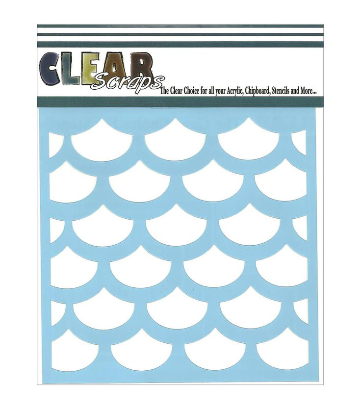 Clear scraps fish scales stencils mermaid wig holidays for Fish scale stencil