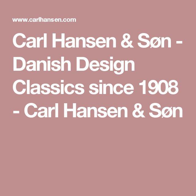 Carl Hansen & Søn - Danish Design Classics since 1908 - Carl Hansen & Søn
