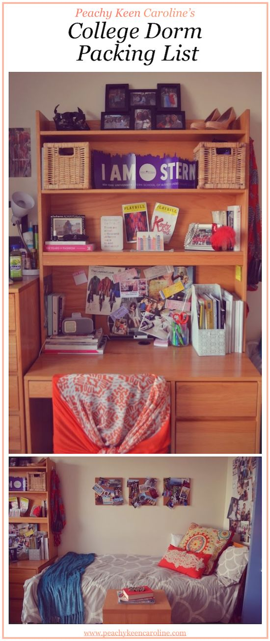 Must-Have Packing List for a College Dorm Room from Peachy Keen Caroline