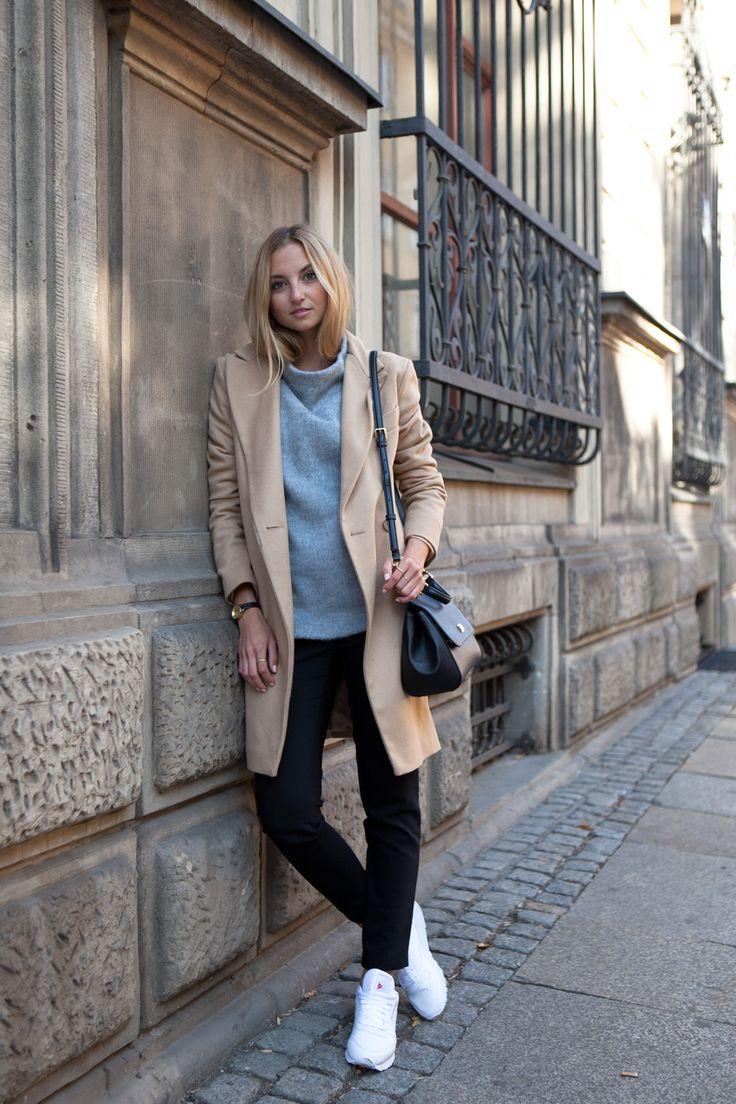 A high neck pullover is always a winner. Via Jess A. Sweater: Hexeline, Coat…