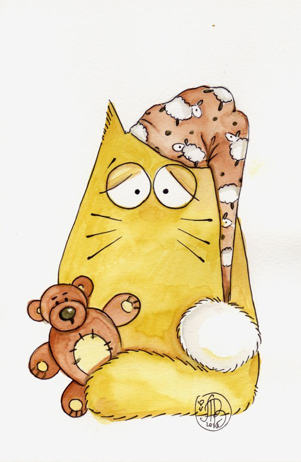 Картинки с котом прикольные мультяшные