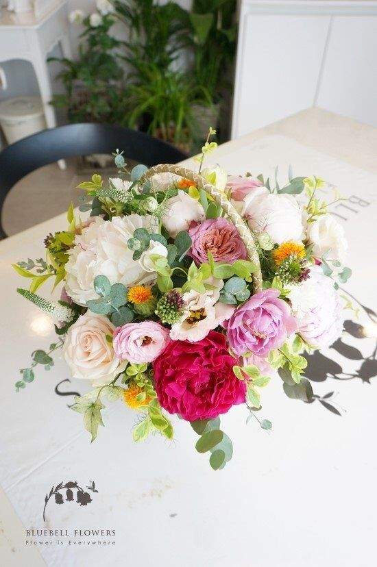 Flower Basket By BLUEBELL FLOWRS