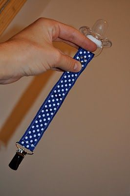 DIY pacifier clip tutorial