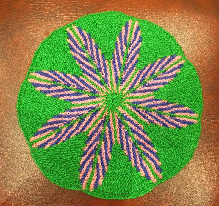Жаккардовый коврик укороченными рядами (jacquard mat)