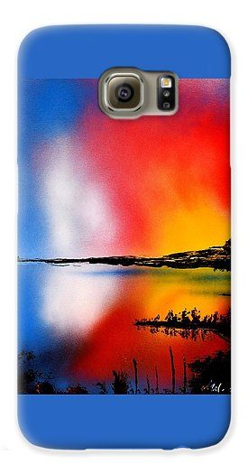 Dawn Twilight Galaxy S6 Case Printed with Fine Art spray painting image Dawn Twilight by Nandor Molnar (When you visit the Shop, change the orientation, background color and image size as you wish)