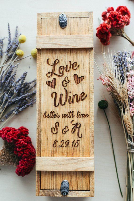 Customized Wine Box Wedding Wine Box Ceremony by RedCloudStudio