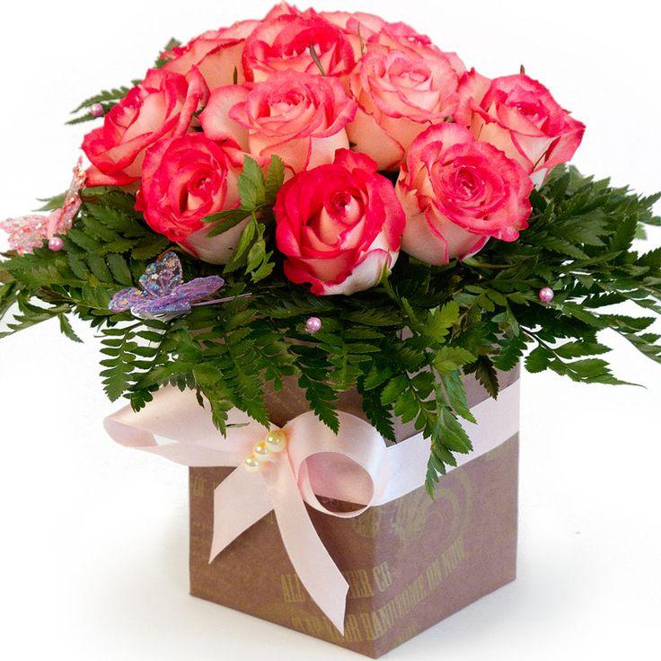 Открытка сердечко, открытки букеты цветов в коробке