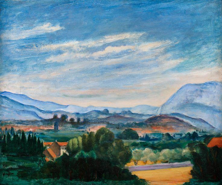 HENRYK HAYDEN (1883 - 1970)  PEJZAŻ PROWANSALSKI   olej, płyta / 44,5 x 37 cm