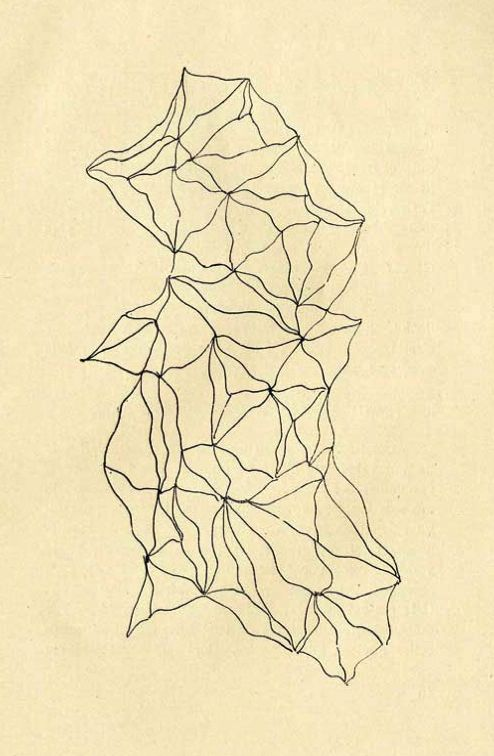 Dolfi's Graphomania  A method developed by the surrealists in Bucharest, in which a dot is made at the site of each impurity or difference in colour in a blank sheet of paper, and then lines are drawn between the dots.