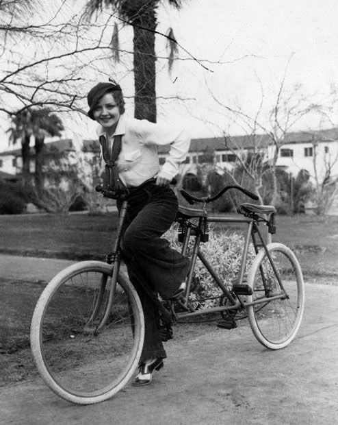 Nancy Carroll, actress, bicycle built for two 1920s