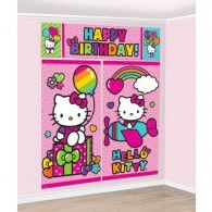 Hello Kitty Rainbow Scene Setter Wall Dec Kit, $18.95,  A670369