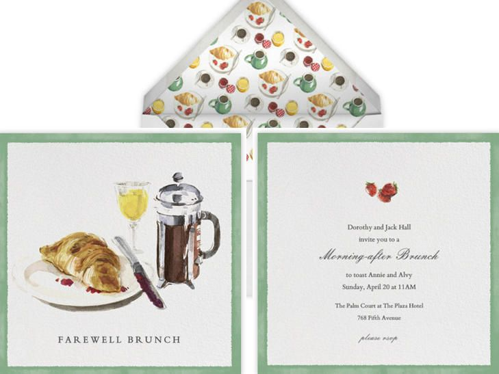 Our Favorite Day-After Wedding Brunch Invitations | https://www.theknot.com/content/best-wedding-brunch-cards